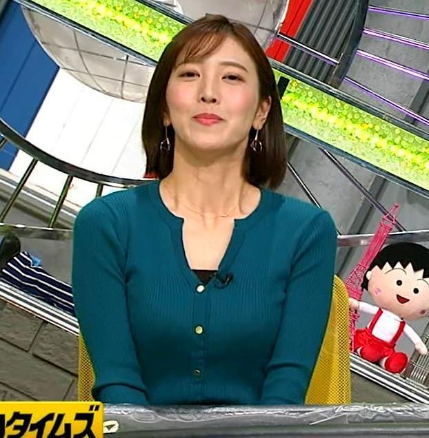 小澤陽子アナ 胸元開いててエロいキャプ・エロ画像4