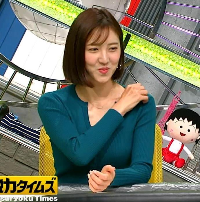 小澤陽子アナ 胸元開いててエロいキャプ・エロ画像6