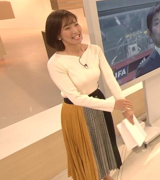 小澤陽子アナ おっぱいパツパツキャプ・エロ画像2