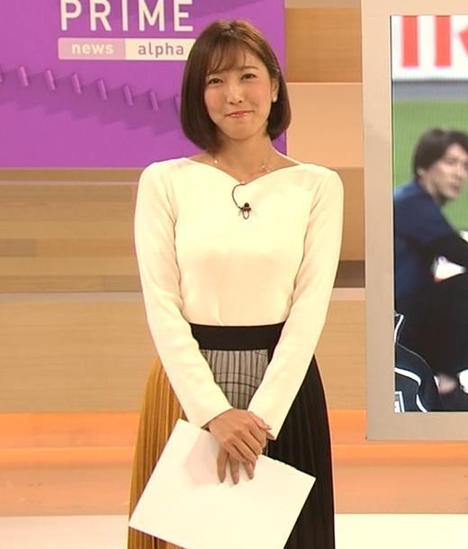 小澤陽子アナ おっぱいパツパツキャプ・エロ画像3