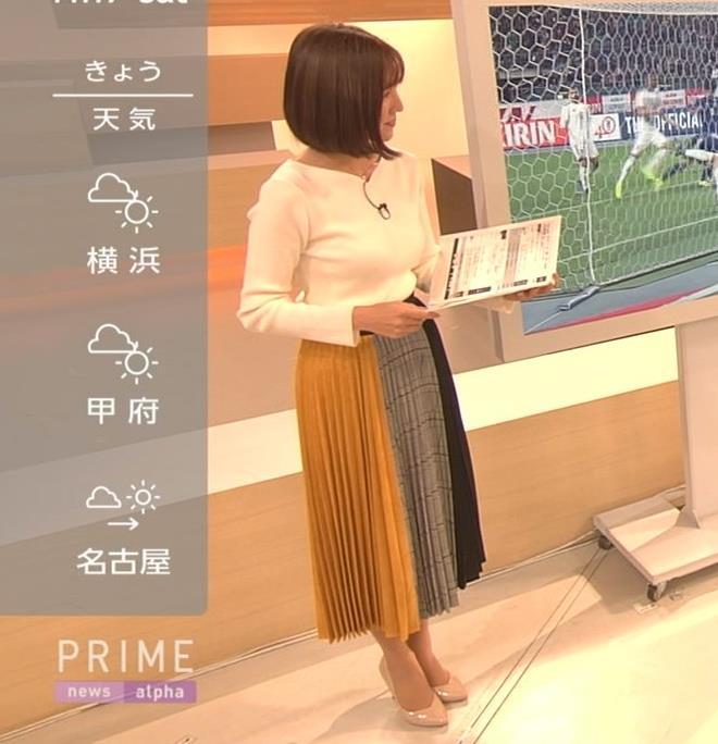 小澤陽子アナ おっぱいパツパツキャプ・エロ画像4