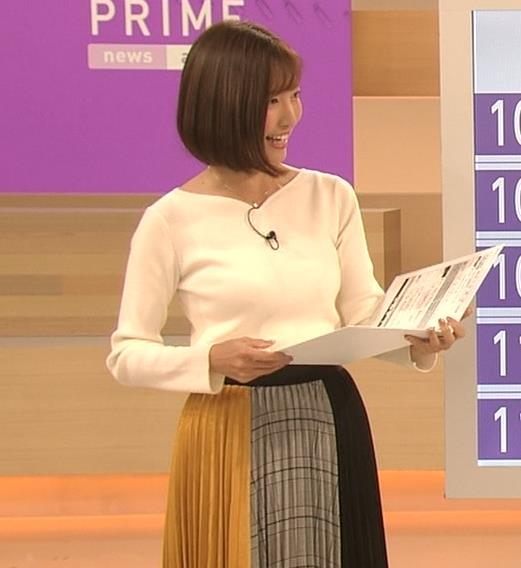 小澤陽子アナ おっぱいパツパツキャプ・エロ画像7