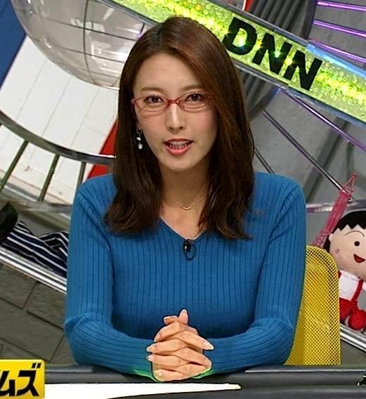 小澤陽子アナ ニットおっぱい【でかい横乳】キャプ・エロ画像