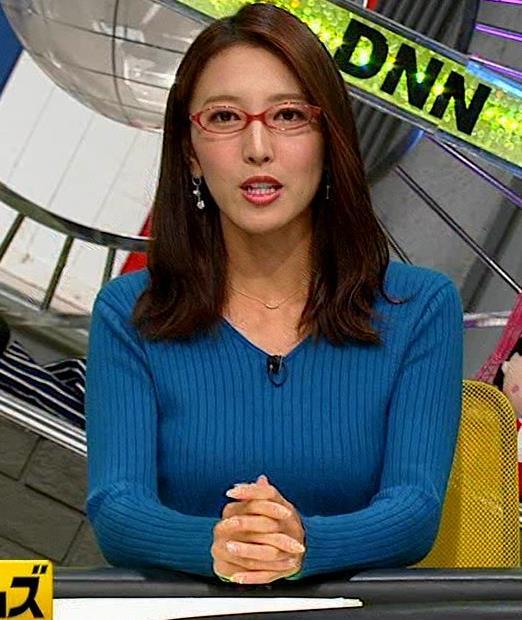 小澤陽子アナ ニットおっぱい【でかい横乳】キャプ・エロ画像2