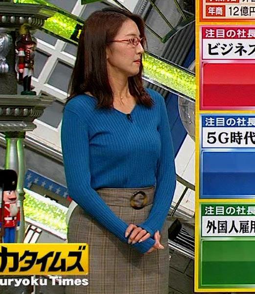 小澤陽子アナ ニットおっぱい【でかい横乳】キャプ・エロ画像3