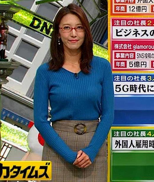 小澤陽子アナ ニットおっぱい【でかい横乳】キャプ・エロ画像5