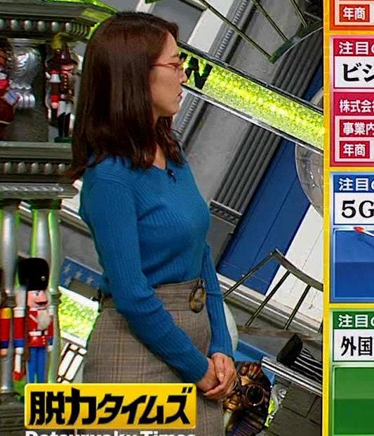 小澤陽子アナ ニットおっぱい【でかい横乳】キャプ・エロ画像6