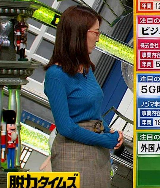 小澤陽子アナ ニットおっぱい【でかい横乳】キャプ・エロ画像7