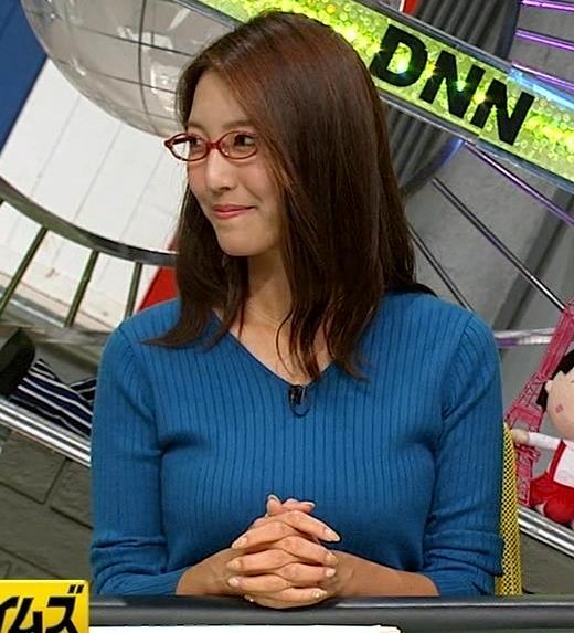 小澤陽子アナ ニットおっぱい【でかい横乳】キャプ・エロ画像9