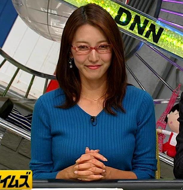 小澤陽子アナ ニットおっぱい【でかい横乳】キャプ・エロ画像10