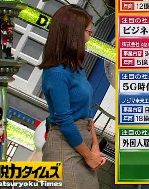 小澤陽子アナ ニットおっぱい【でかい横乳】キャプ画像(エロ・アイコラ画像)