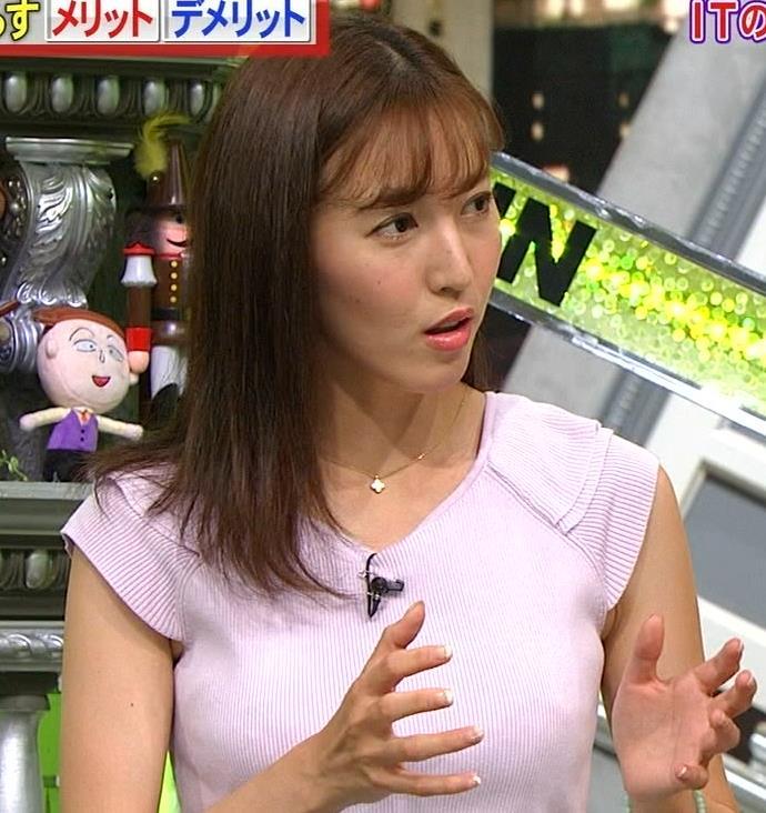 小澤陽子アナ ニット乳、でけぇ!キャプ・エロ画像