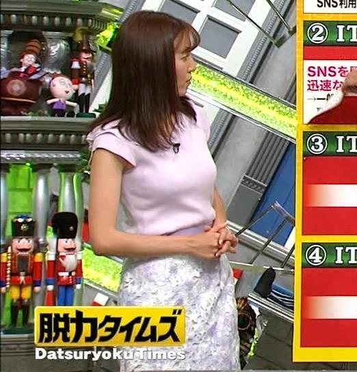 小澤陽子アナ ニット乳、でけぇ!キャプ・エロ画像3