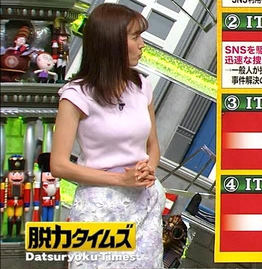 小澤陽子アナ ニット乳、でけぇ!キャプ・エロ画像4