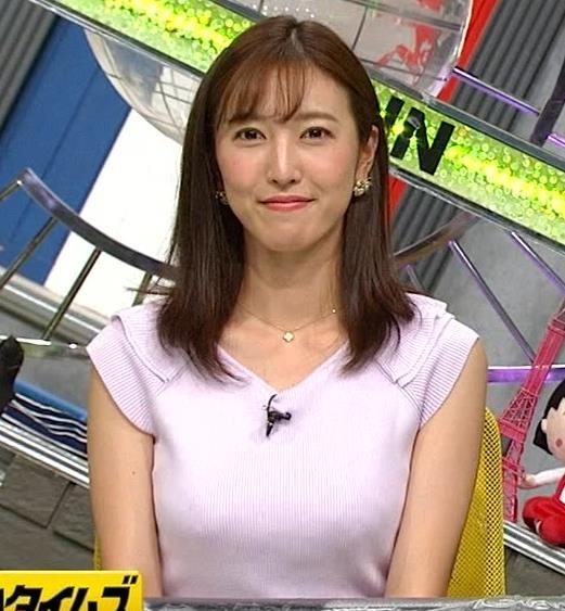 小澤陽子アナ ニット乳、でけぇ!キャプ・エロ画像5