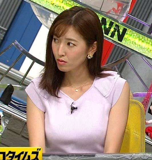 小澤陽子アナ ニット乳、でけぇ!キャプ・エロ画像6