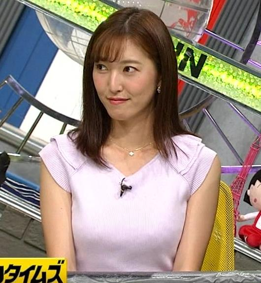 小澤陽子アナ ニット乳、でけぇ!キャプ・エロ画像7