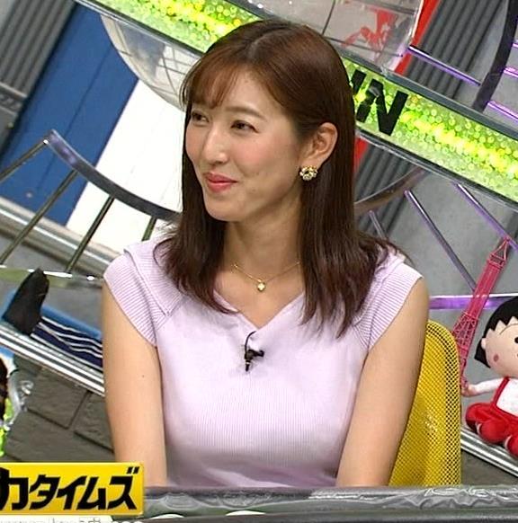 小澤陽子アナ ニット乳、でけぇ!キャプ・エロ画像8