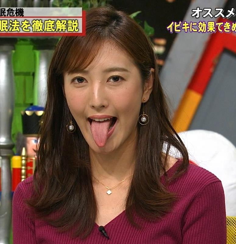 小澤陽子アナ エロい舌出しキャプ・エロ画像2