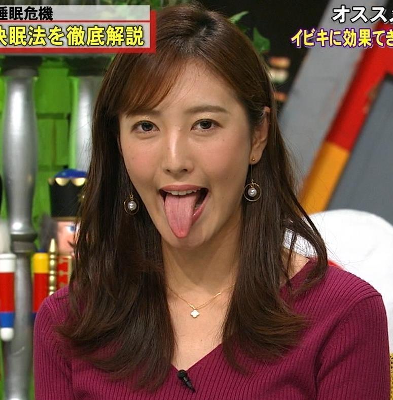 小澤陽子アナ エロい舌出しキャプ・エロ画像3