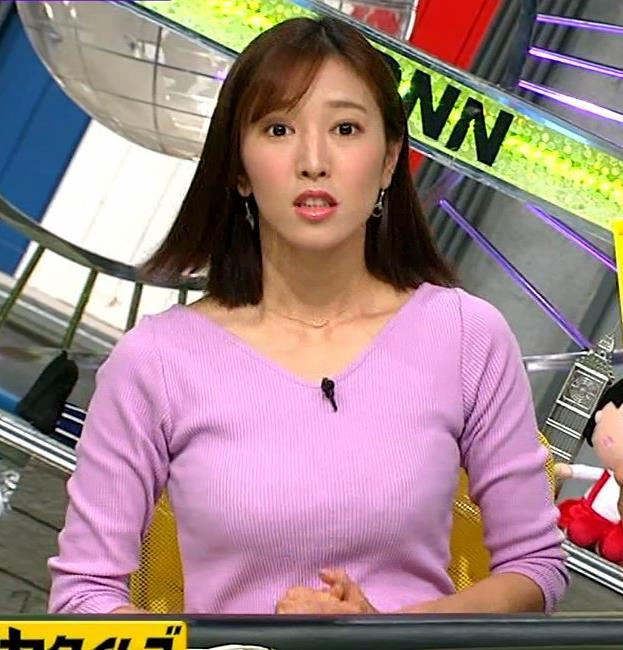 小澤陽子アナ 何時もエロいニットを着てくれる女子アナキャプ・エロ画像