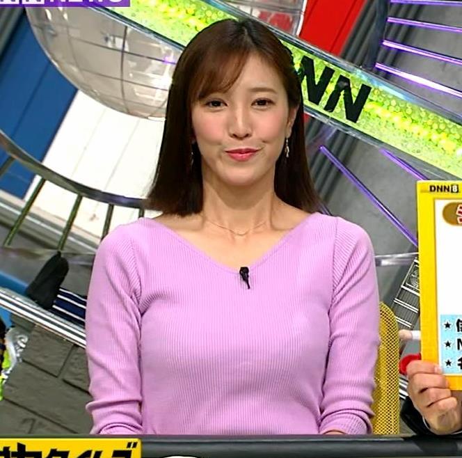 小澤陽子アナ 何時もエロいニットを着てくれる女子アナキャプ・エロ画像2