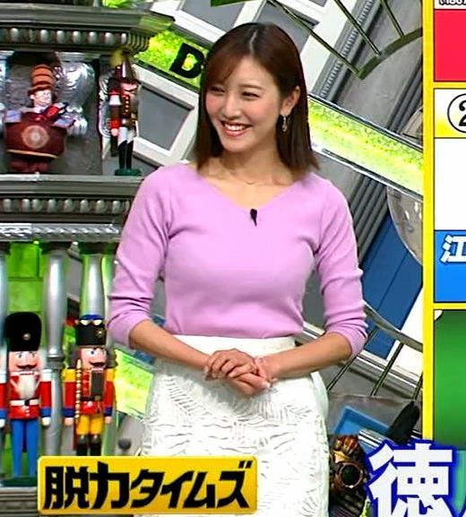 小澤陽子アナ 何時もエロいニットを着てくれる女子アナキャプ・エロ画像4