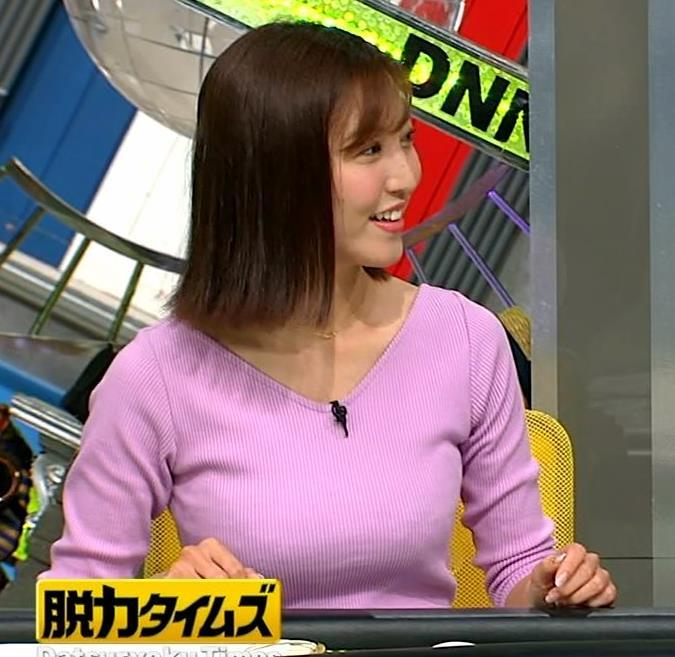 小澤陽子アナ 何時もエロいニットを着てくれる女子アナキャプ・エロ画像5