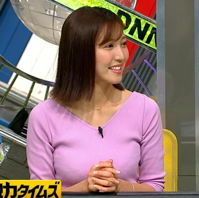 小澤陽子アナ 何時もエロいニットを着てくれる女子アナキャプ・エロ画像6