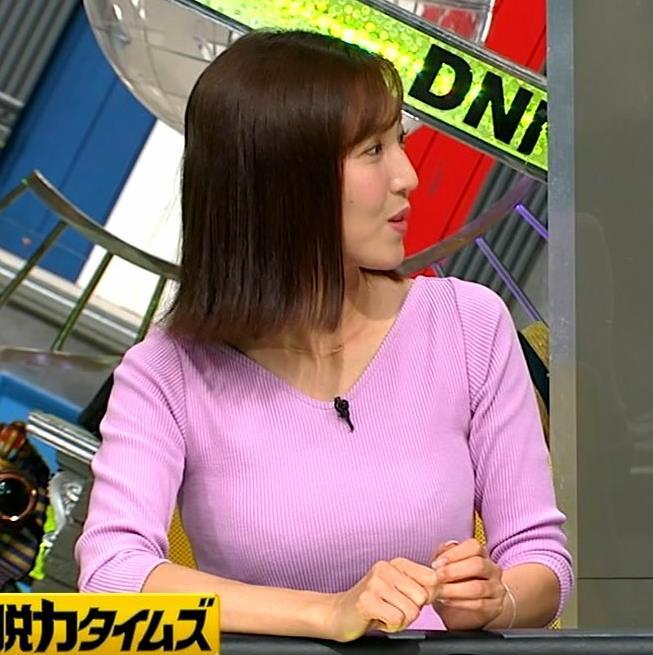 小澤陽子アナ 何時もエロいニットを着てくれる女子アナキャプ・エロ画像8