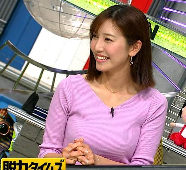 小澤陽子アナ 何時もエロいニットを着てくれる女子アナキャプ・エロ画像9