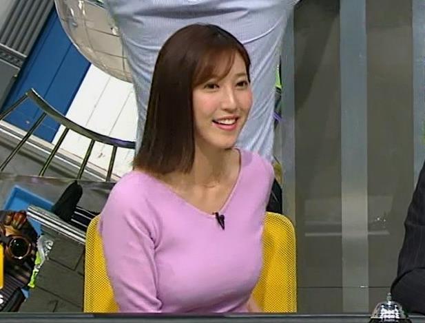 小澤陽子アナ 何時もエロいニットを着てくれる女子アナキャプ・エロ画像10