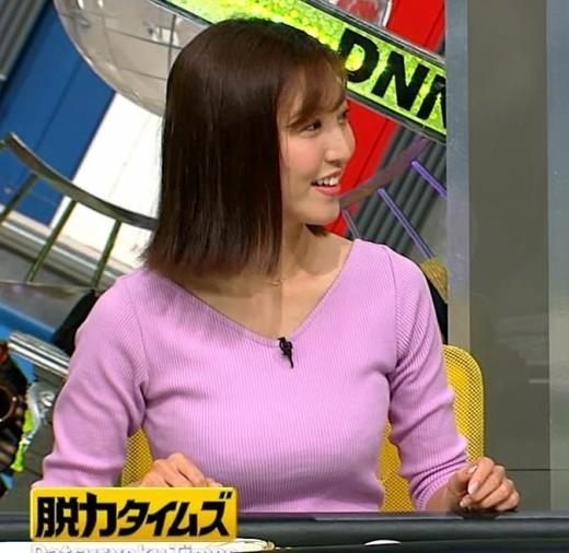 小澤陽子 何時もエロいニットを着てくれる女子アナキャプ画像(エロ・アイコラ画像)