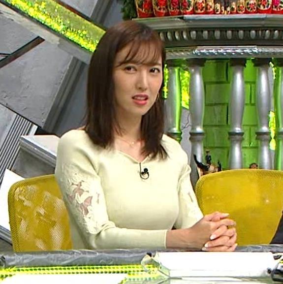 小澤陽子アナ ニット巨乳♡キャプ・エロ画像
