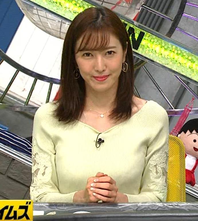 小澤陽子アナ ニット巨乳♡キャプ・エロ画像2