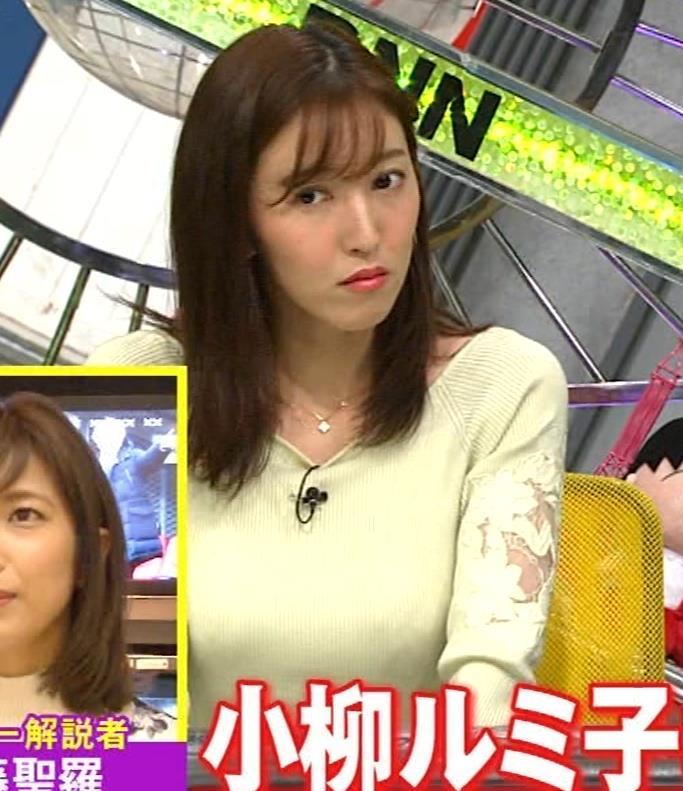小澤陽子アナ ニット巨乳♡キャプ・エロ画像3