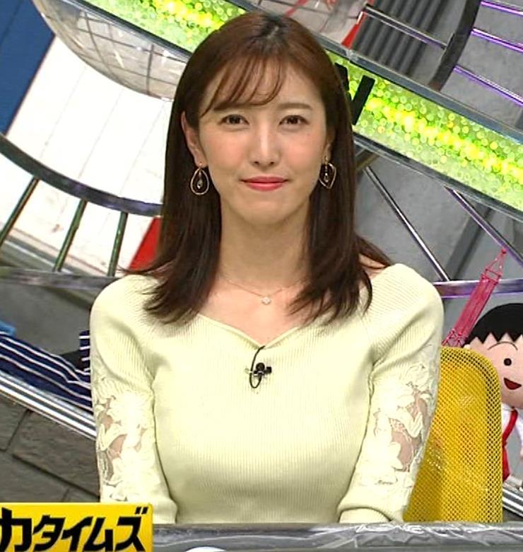 小澤陽子アナ ニット巨乳♡キャプ・エロ画像4