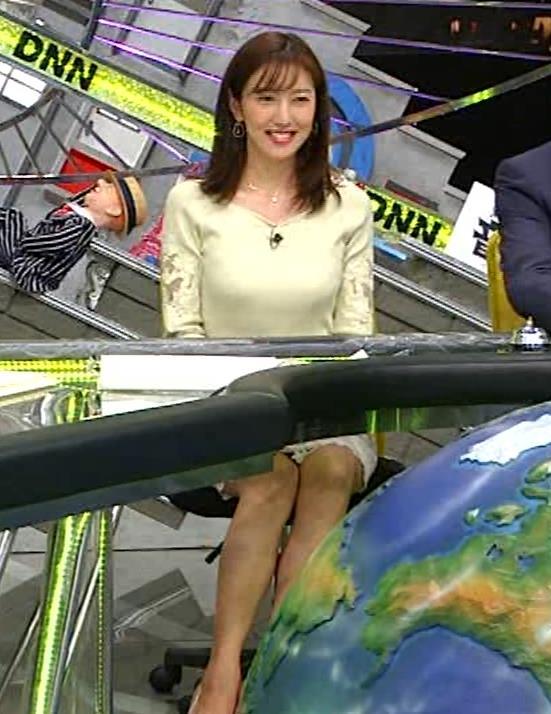 小澤陽子アナ ニット巨乳♡キャプ・エロ画像5