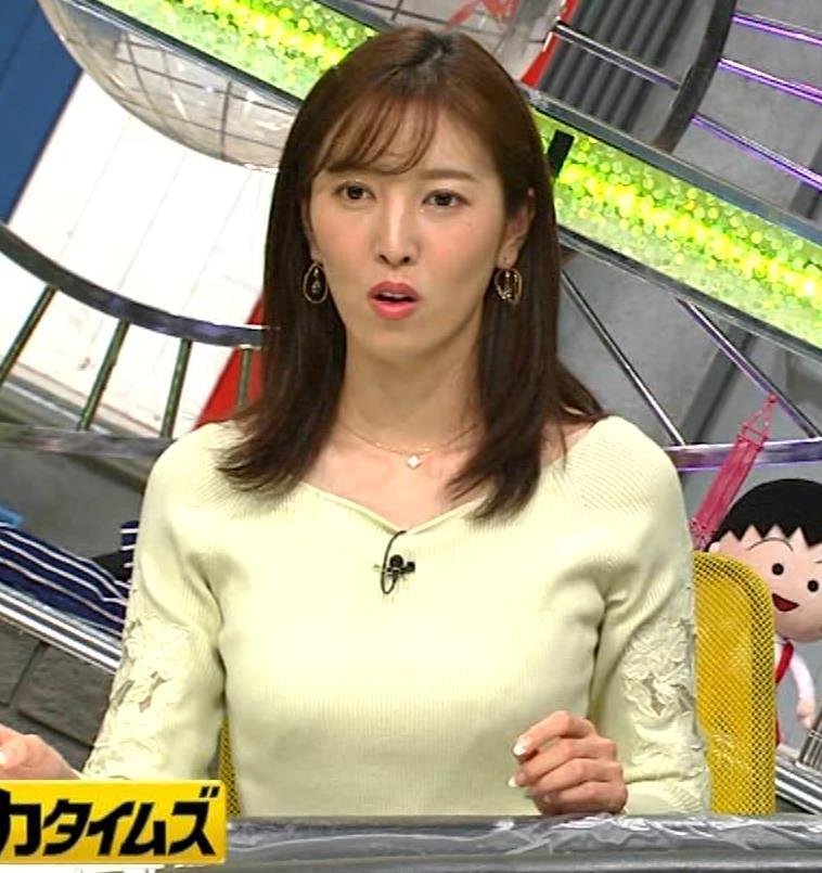 小澤陽子アナ ニット巨乳♡キャプ・エロ画像6
