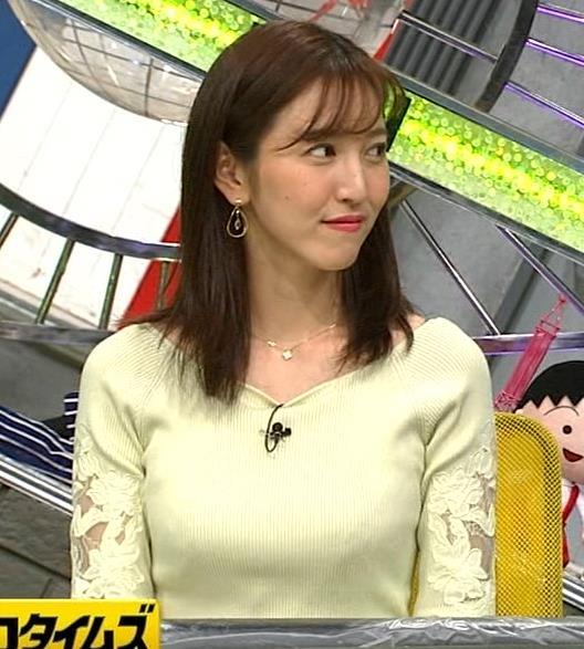 小澤陽子アナ ニット巨乳♡キャプ・エロ画像8