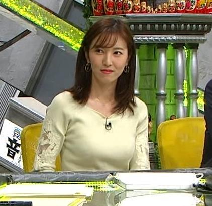 小澤陽子アナ ニット巨乳♡キャプ・エロ画像9