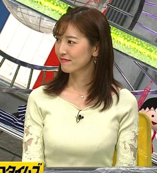小澤陽子アナ ニット巨乳♡キャプ・エロ画像10