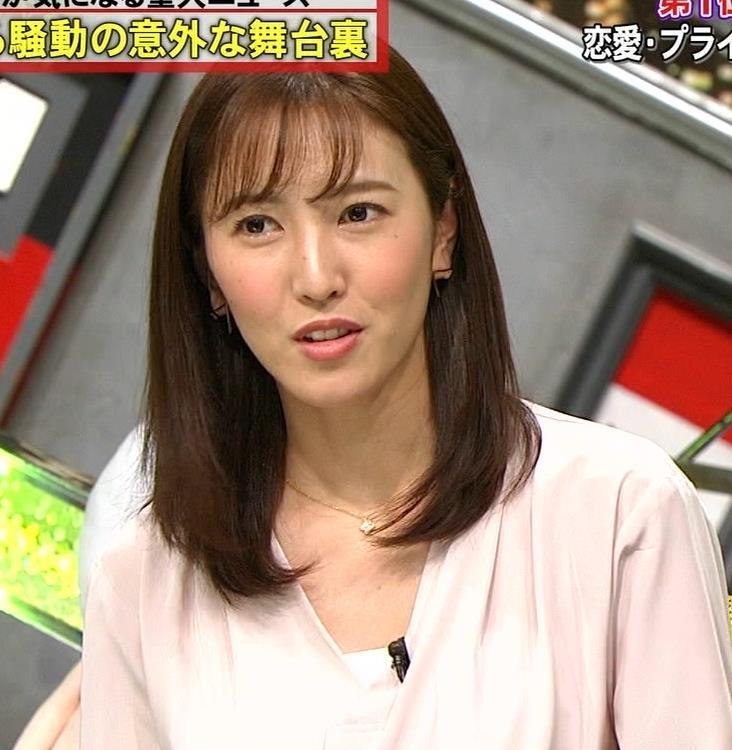 小澤陽子アナ クッキリ!シャツの巨乳横乳キャプ・エロ画像6