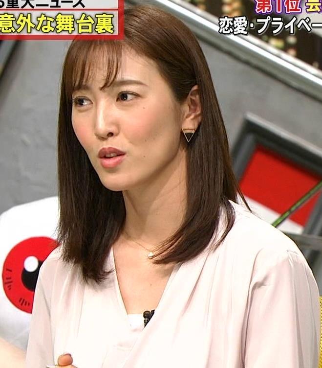 小澤陽子アナ クッキリ!シャツの巨乳横乳キャプ・エロ画像7