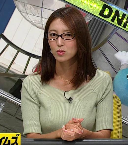 小澤陽子アナ 安定のニットおっぱいキャプ・エロ画像4