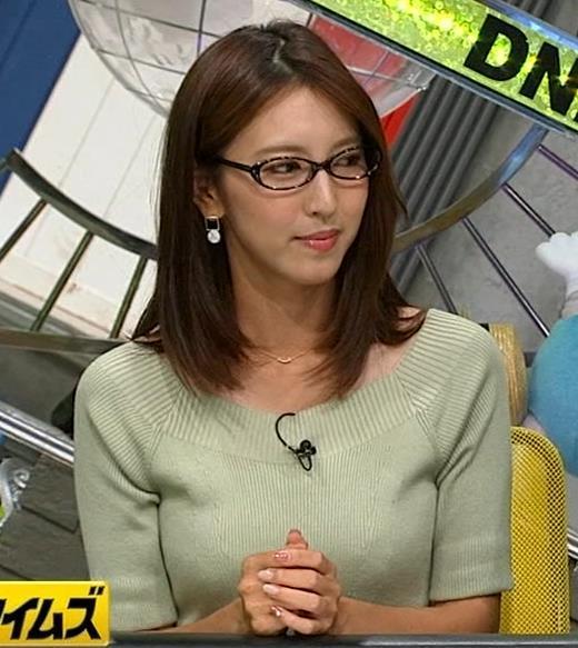 小澤陽子アナ 安定のニットおっぱいキャプ画像(エロ・アイコラ画像)