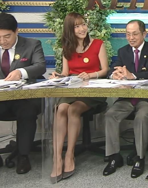 小澤陽子アナ スカート短すぎて露出度高すぎキャプ・エロ画像2