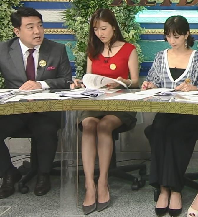 小澤陽子アナ スカート短すぎて露出度高すぎキャプ・エロ画像3