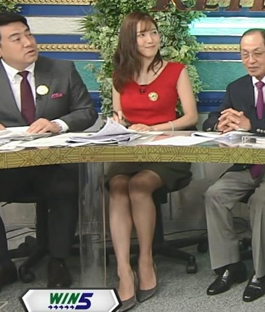 小澤陽子アナ スカート短すぎて露出度高すぎキャプ・エロ画像7