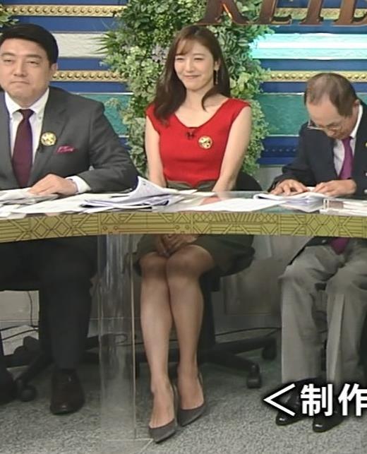 小澤陽子アナ スカート短すぎて露出度高すぎキャプ・エロ画像8